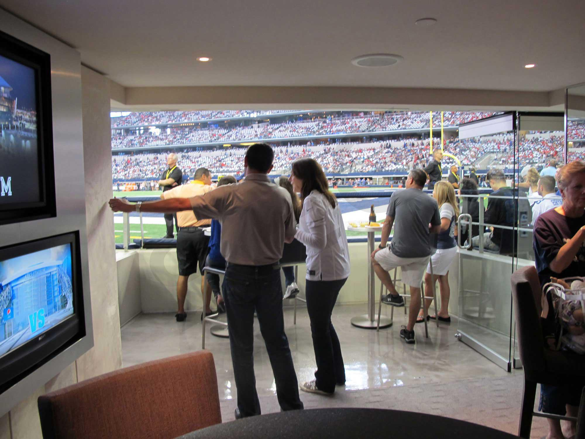 Dallas cowboys suite rentals at t stadium suite for Dining options at at t stadium