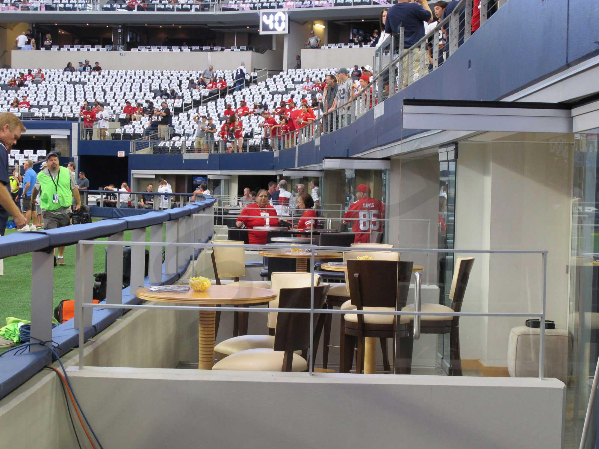 Field Level Suite Seating