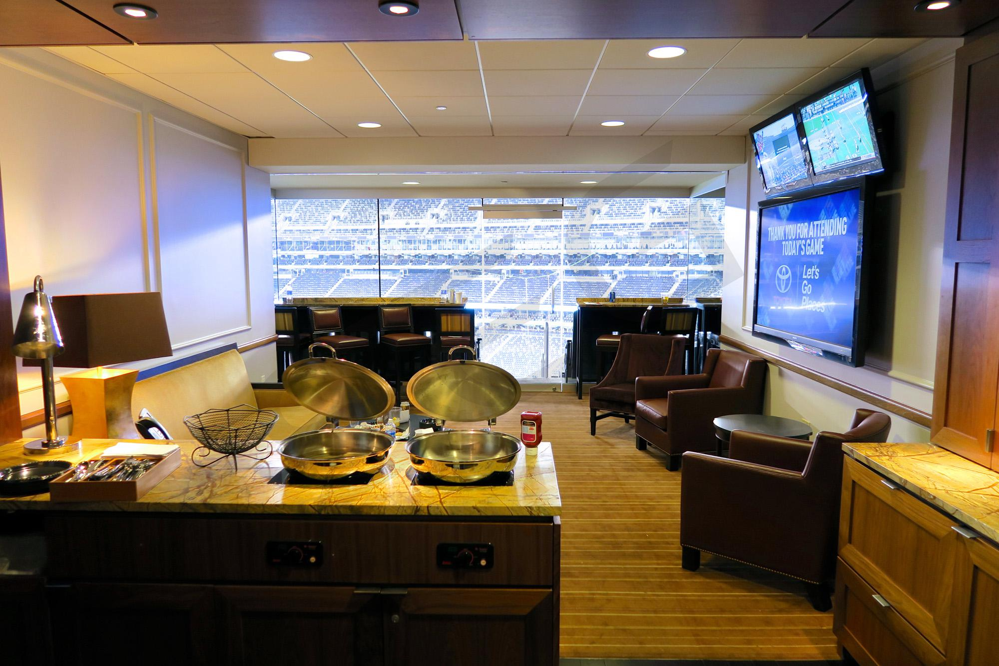 MetLife Stadium suites feature a very spacious floor plan