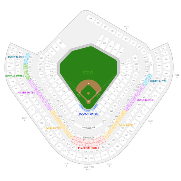 Angel Stadium of Anaheim / Los Angeles Angels of Anaheim Suite Map and Seating Chart