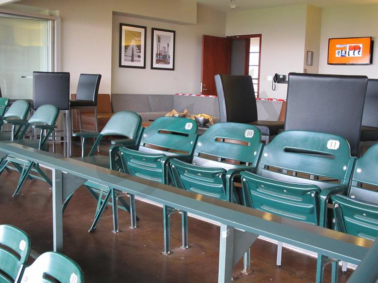 Suite include fixed seating and interior lounge seating