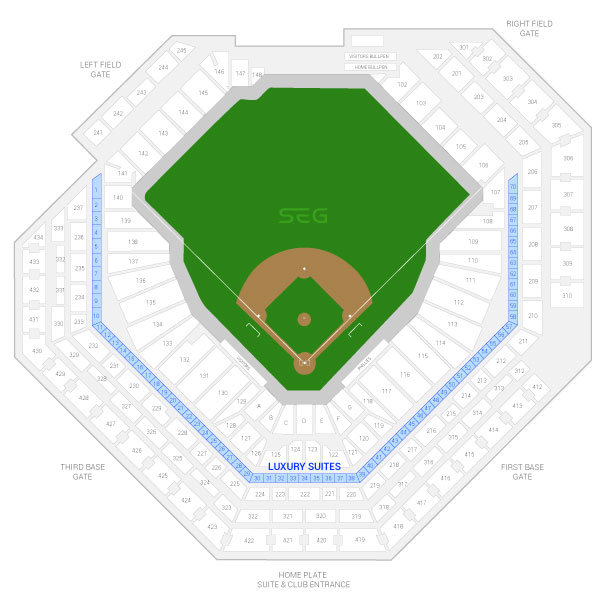 Citizens Bank Park / Philadelphia Phillies Suite Map and Seating Chart