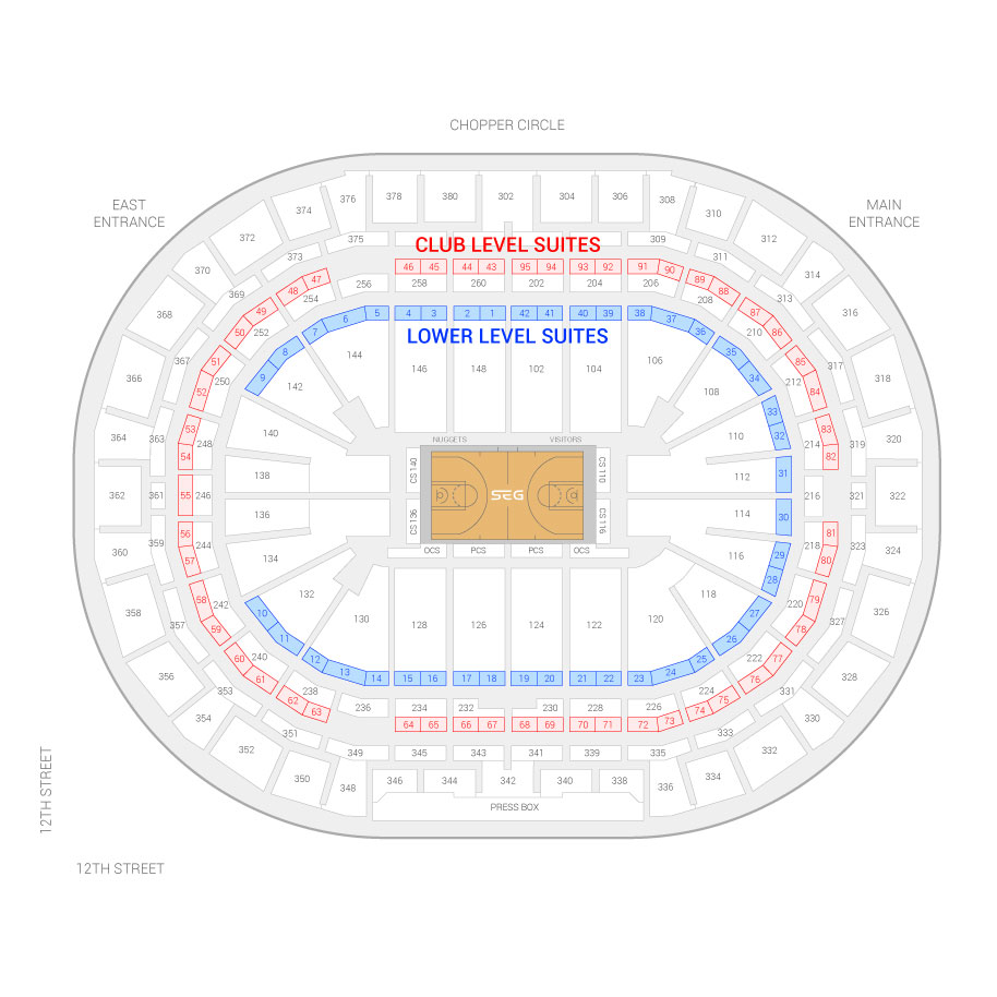 Pepsi Center Suite Map And Seating Chart
