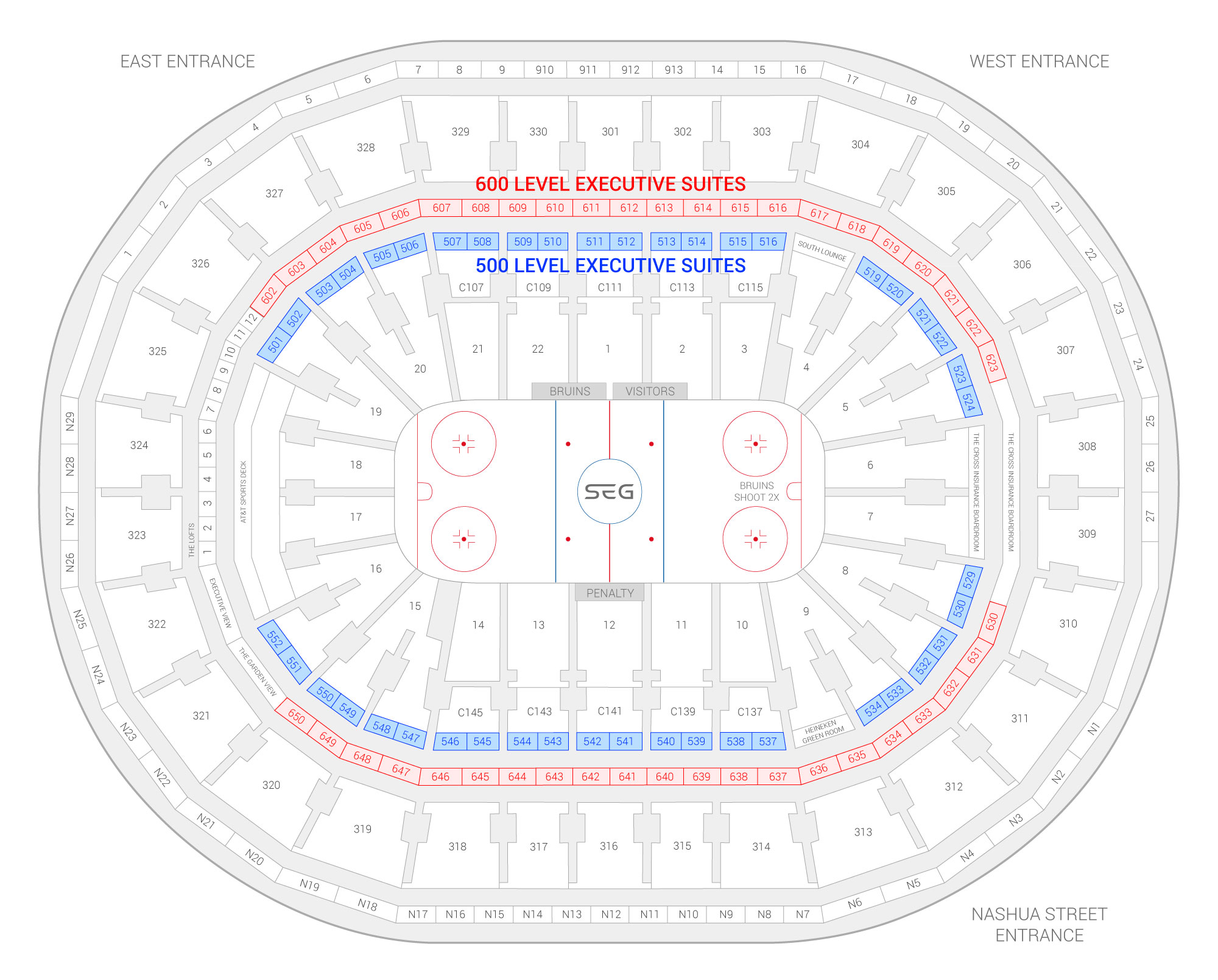 TD Garden /  Suite Map and Seating Chart