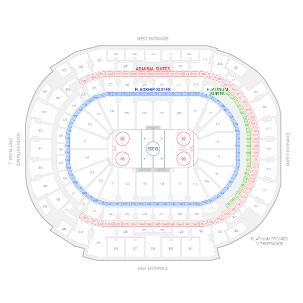 American Airlines Center / Dallas Stars Suite Map and Seating Chart