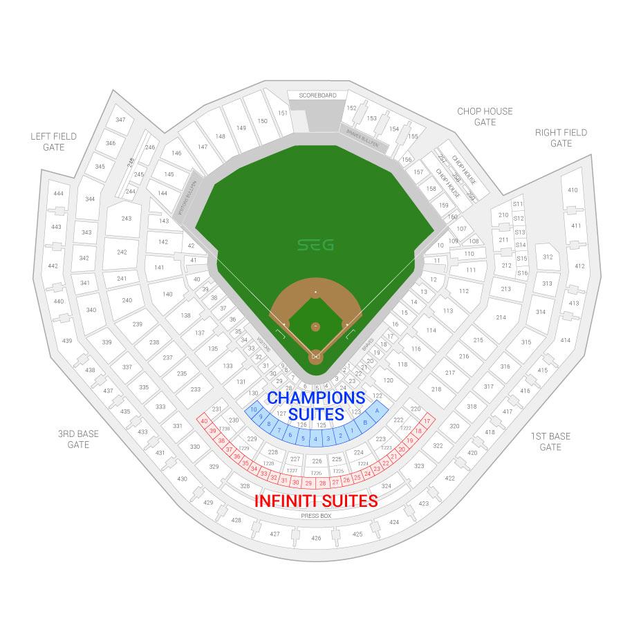 Atlanta Braves Suite Rentals Suntrust Park
