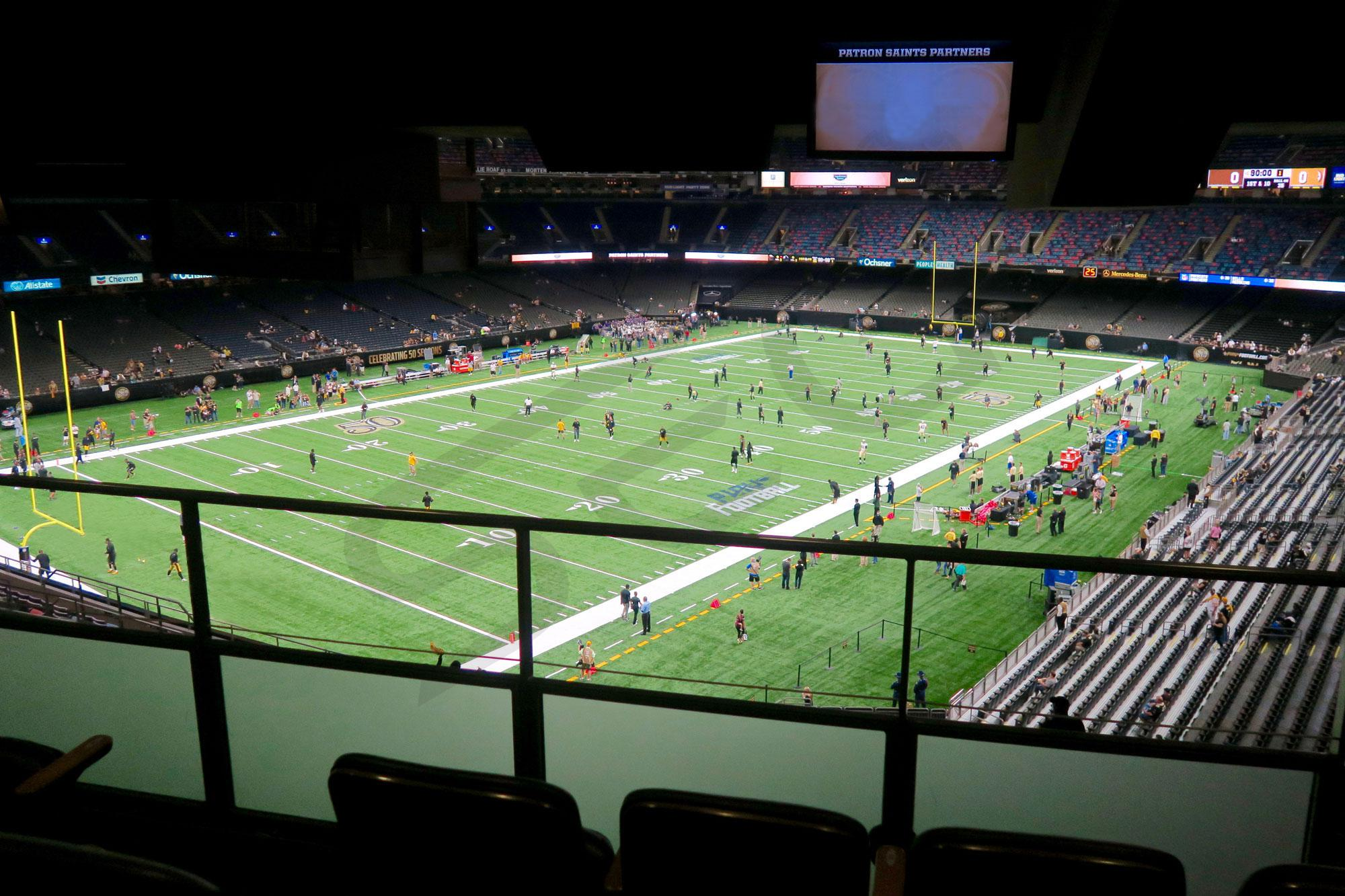 Mercedes-Benz Superdome suite