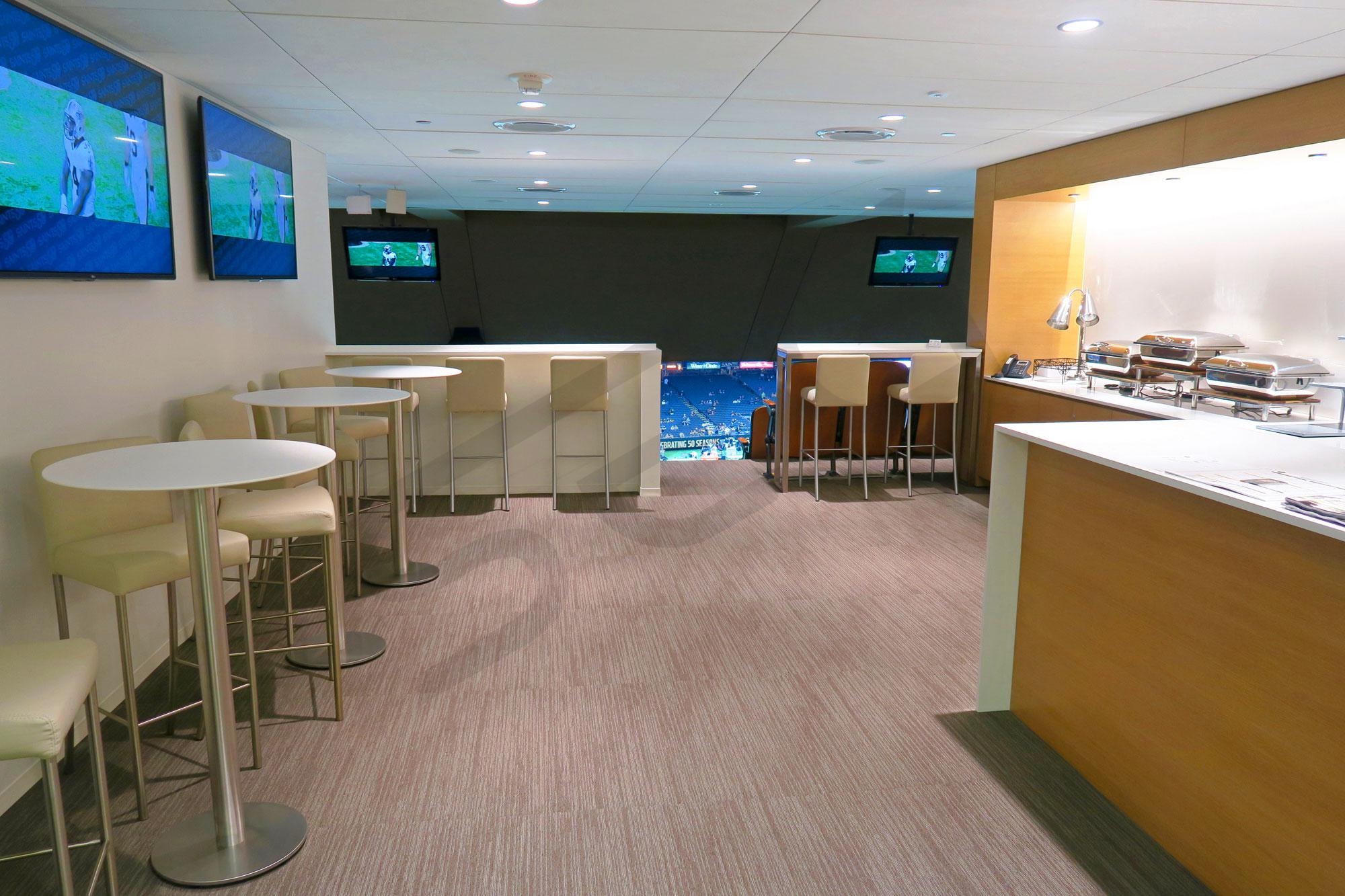 Mercedes-Benz Superdome suite interior