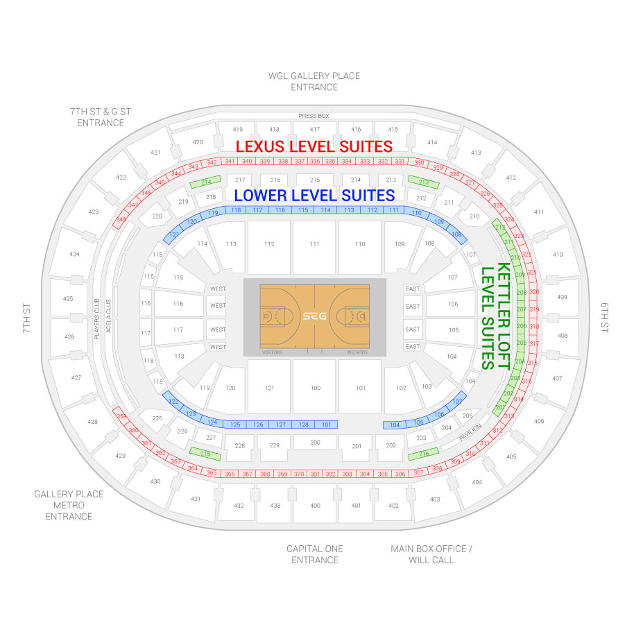 Washington Wizards Suite Rentals Verizon Center Suite Experience Group