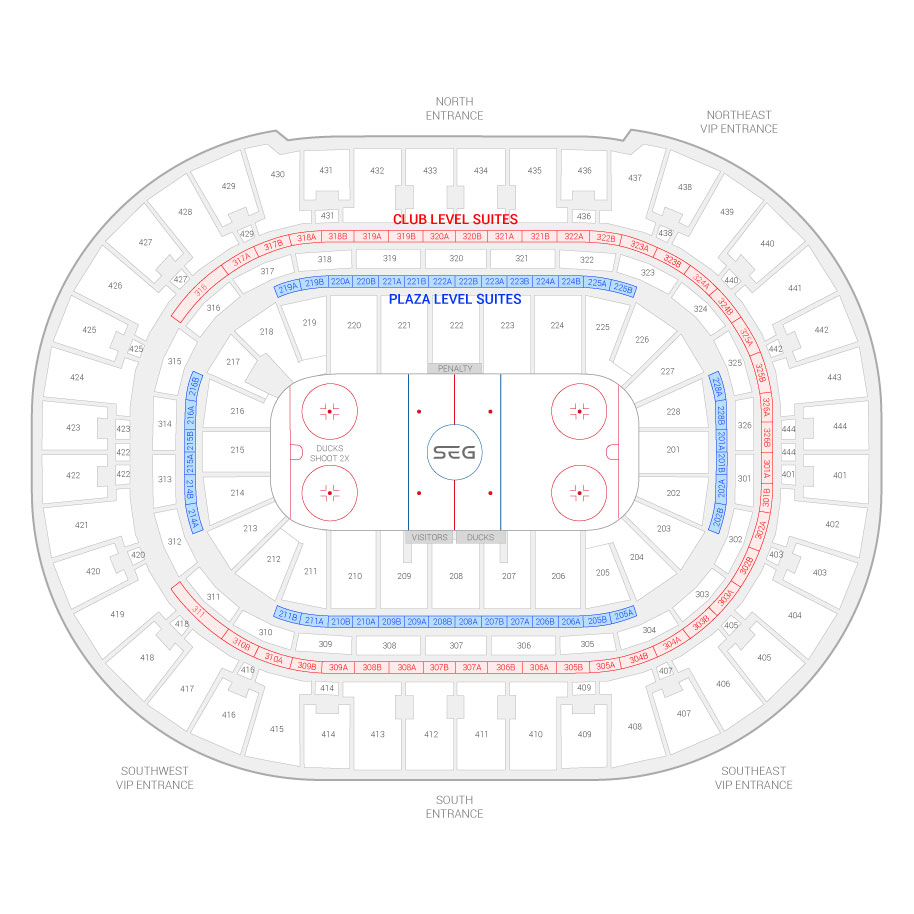 Honda Center Anaheim Ducks Suite Map And Seating Chart