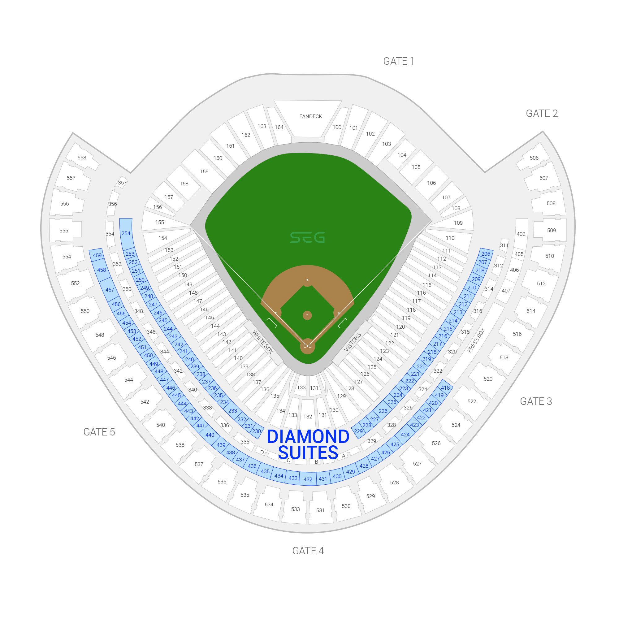 Guaranteed Rate Field / Chicago White Sox Suite Map and Seating Chart