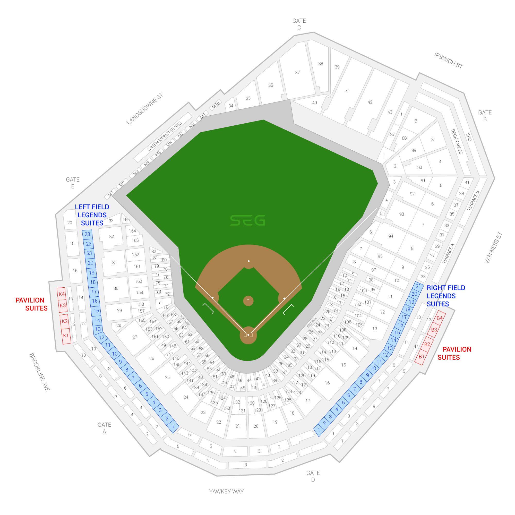 Fenway Park / Boston Red Sox Suite Map and Seating Chart