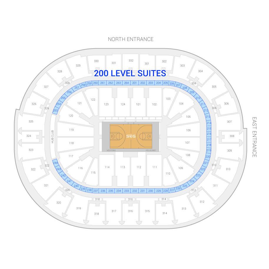New Orleans Pelicans Suite Rentals Smoothie King Center