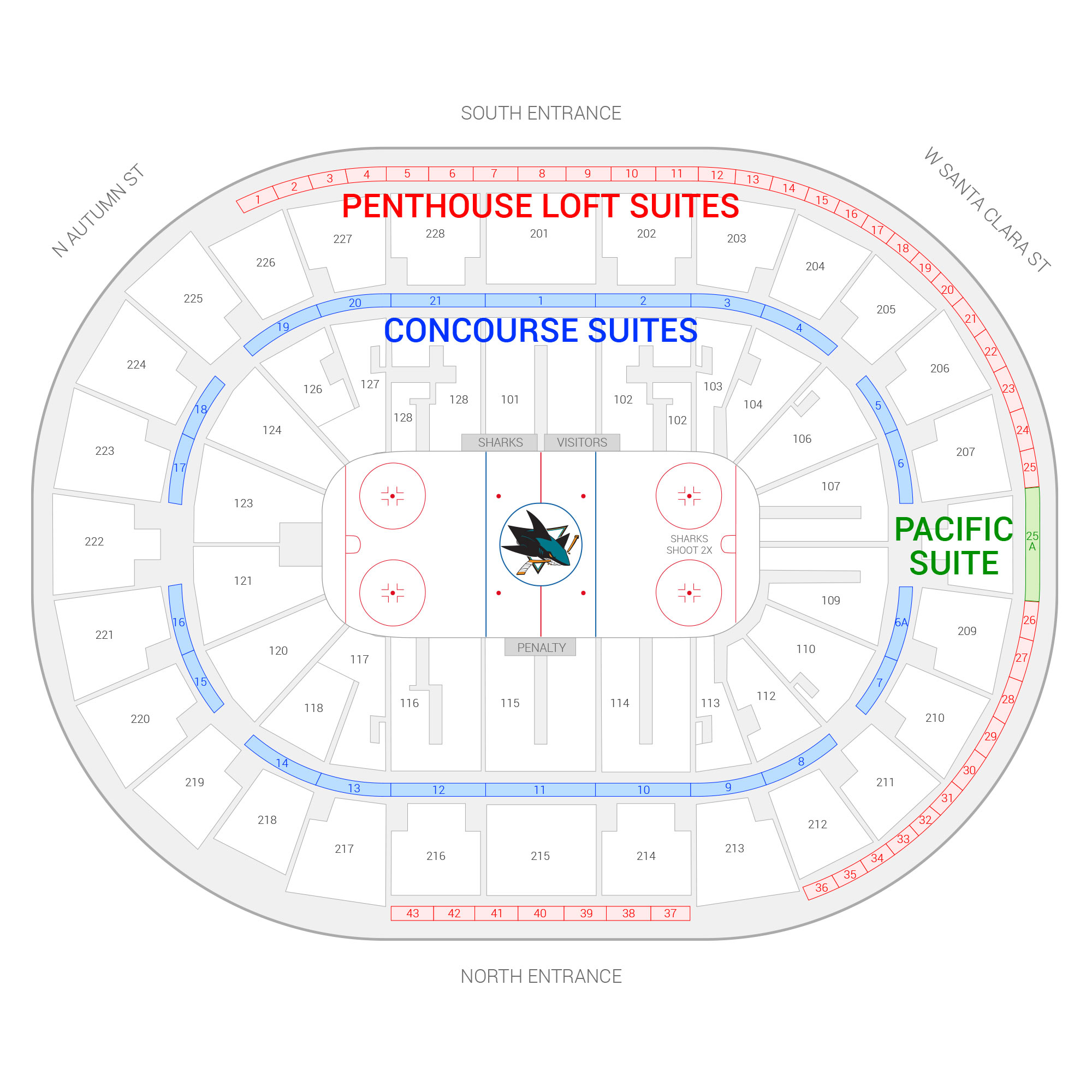 San Jose Sharks Suite Rentals SAP Center Suite Experience Group