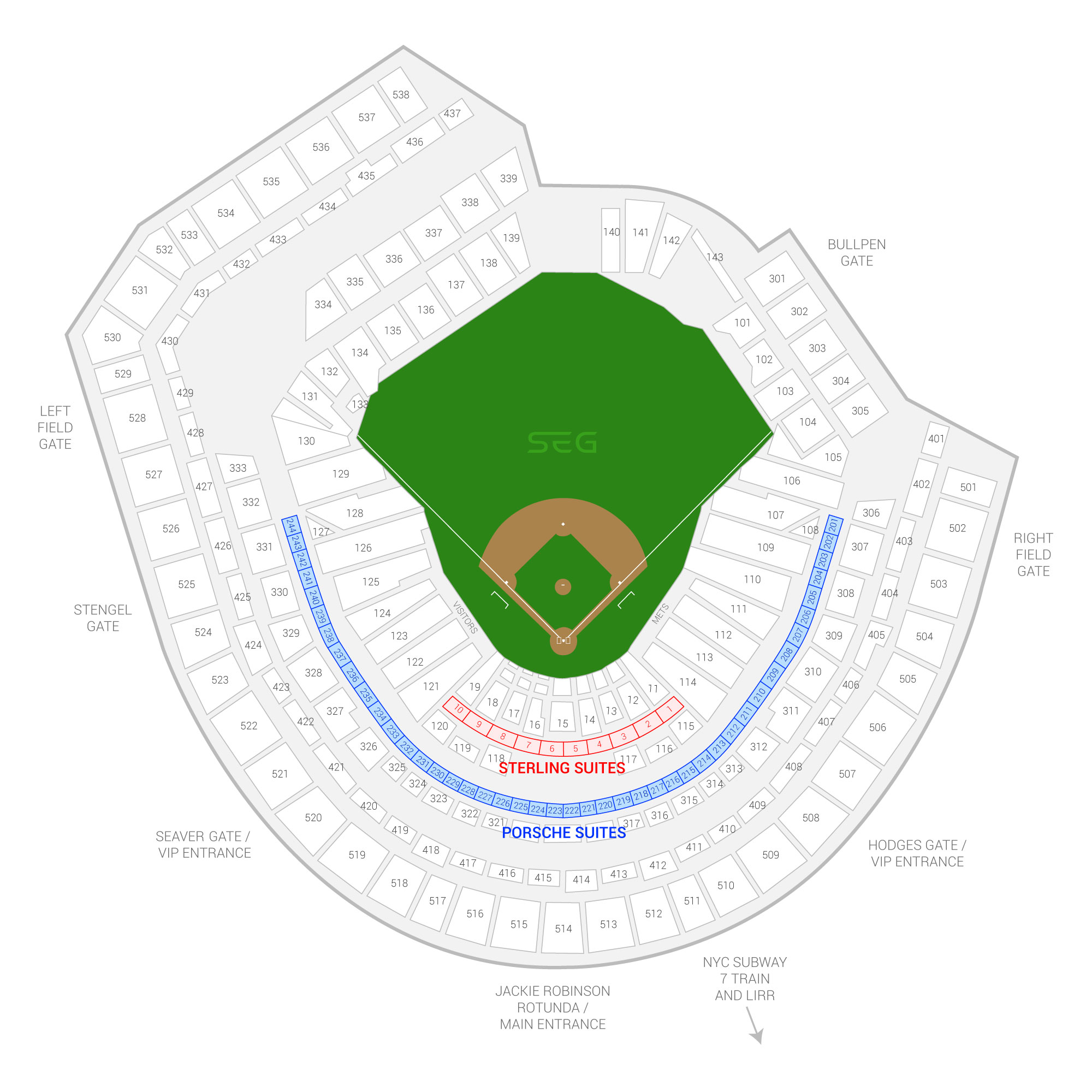 Citi Field /  Suite Map and Seating Chart