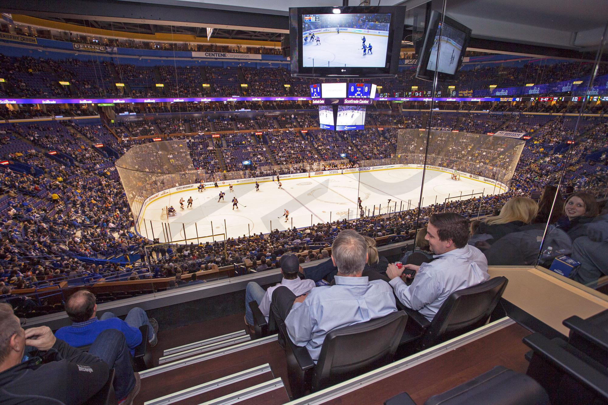 St Louis Blues Suite Rentals Scottrade Center Suite