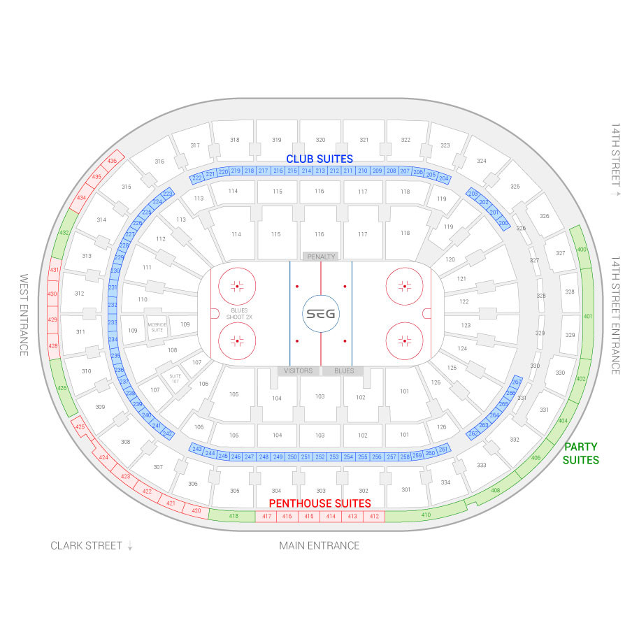 St louis blues seating chart suites st louis blues for Plaza mercedes benz st louis