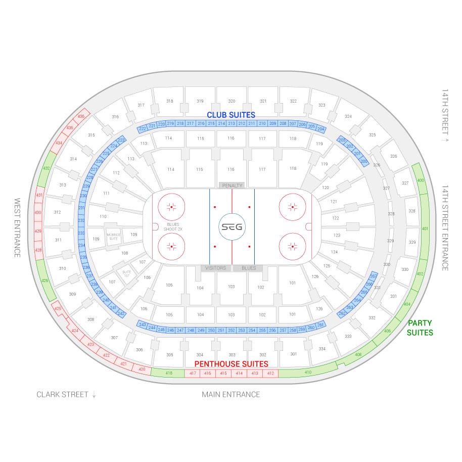 St louis blues seating chart suites st louis blues for Mercedes benz superdome layout