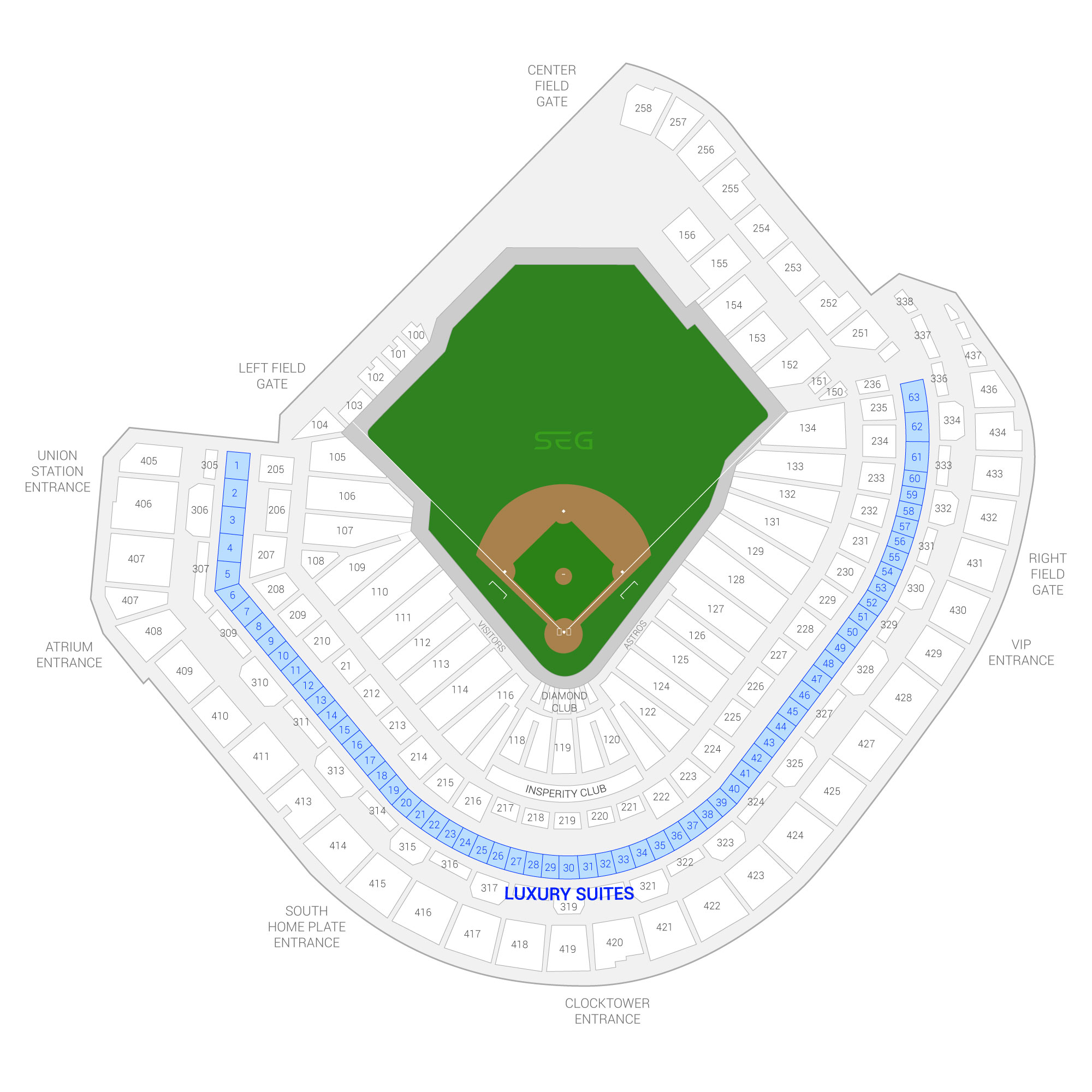 Minute Maid Park / Houston Astros Suite Map and Seating Chart