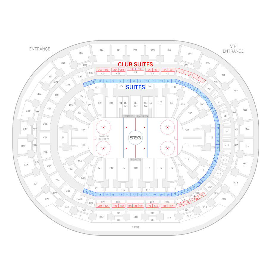 Bb T Center Suite Map And Seating Chart
