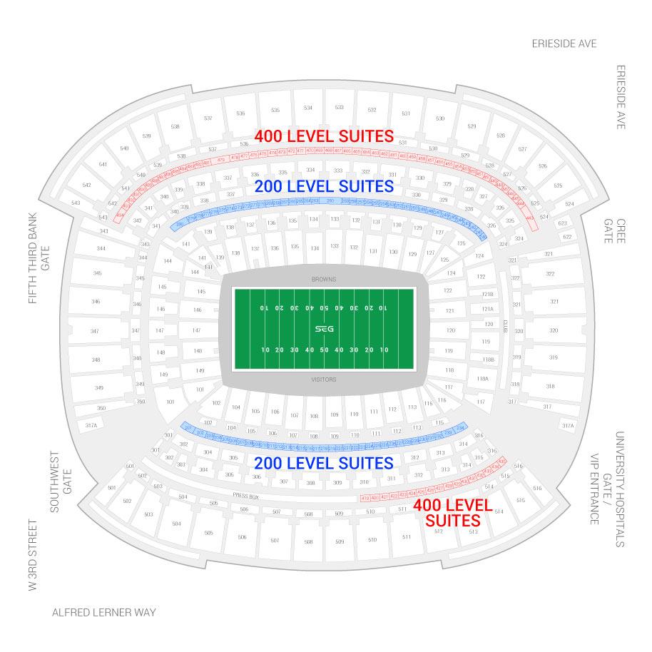 Cleveland Browns Suite Rentals | FirstEnergy Stadium