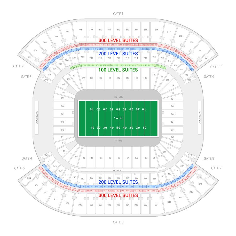 Nissan Stadium Seating Chart Awesome Home