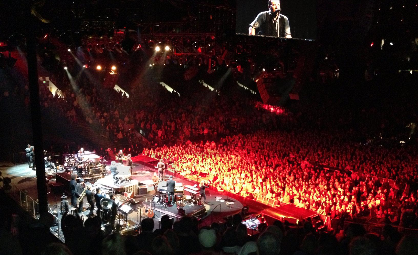 Bruce at Oracle Arena