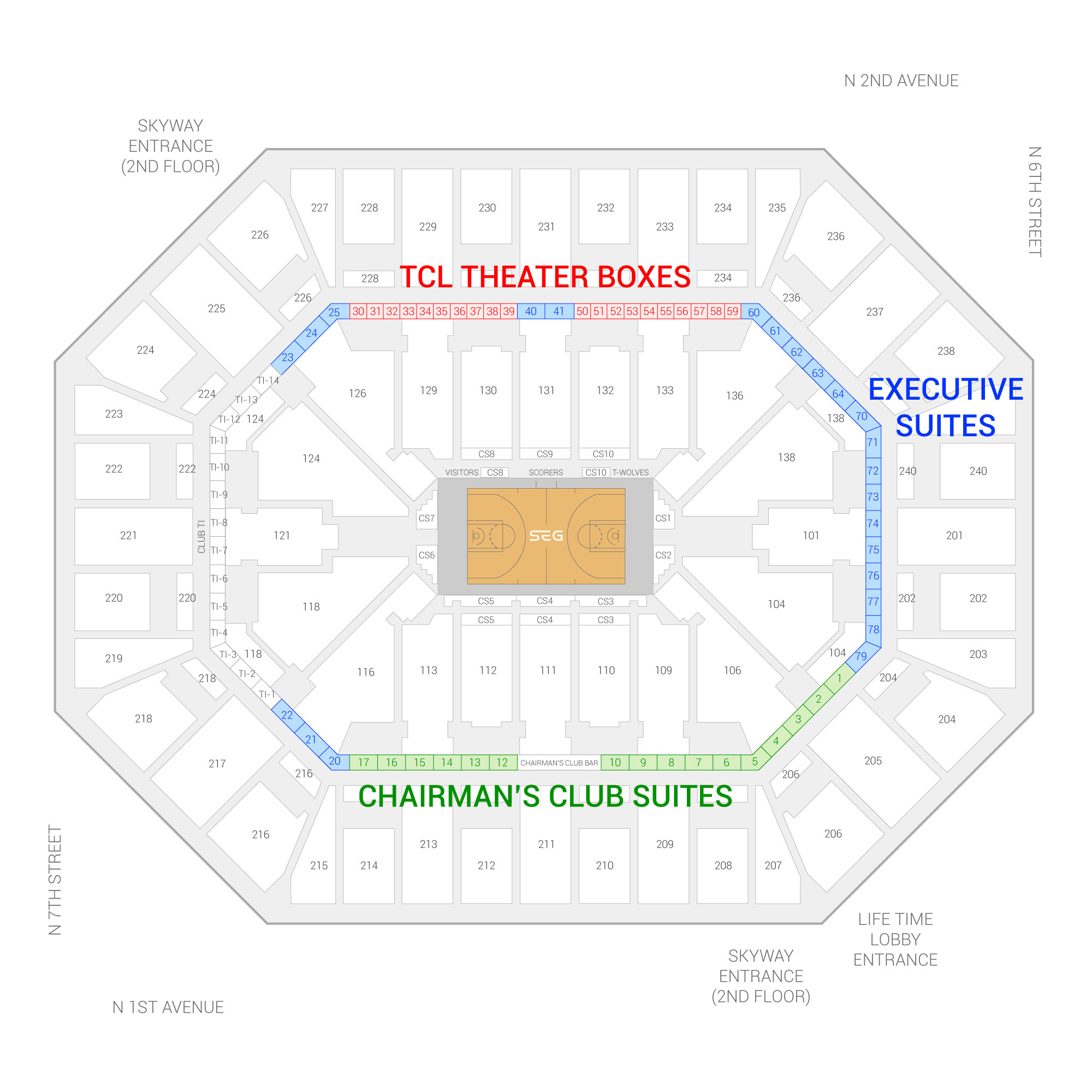 Target Center / Minnesota Timberwolves Suite Map and Seating Chart