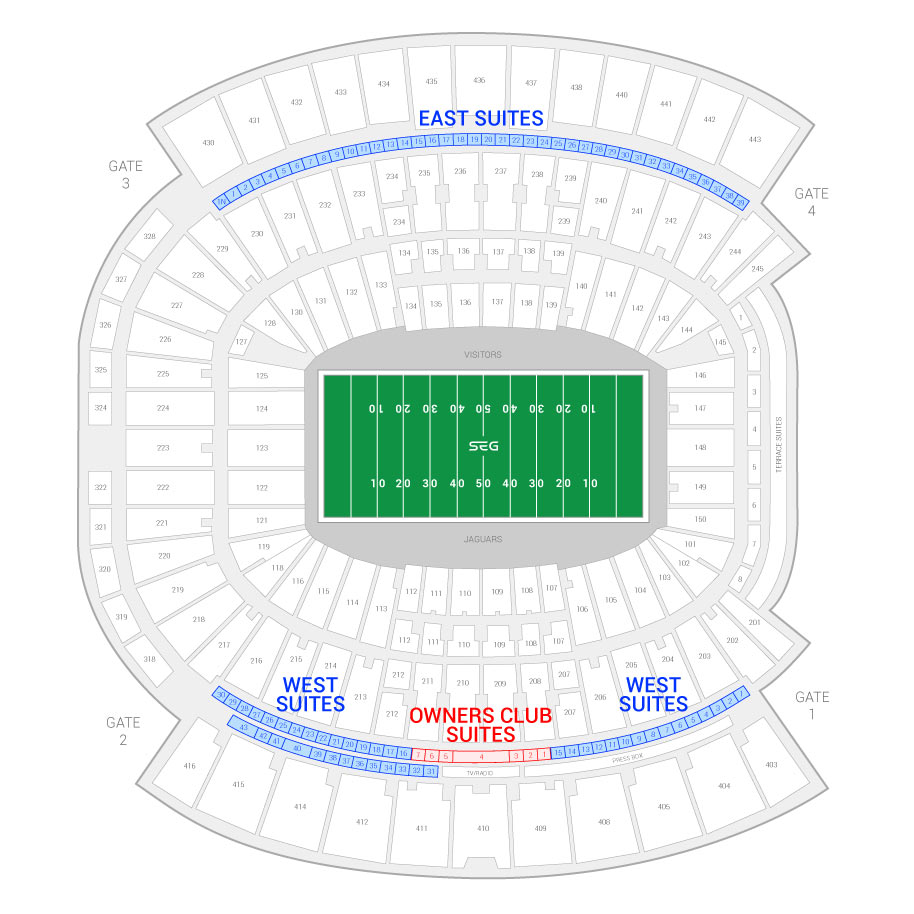 Tiaa Bank Field Formerly Everbank Suite Map And Seating Chart