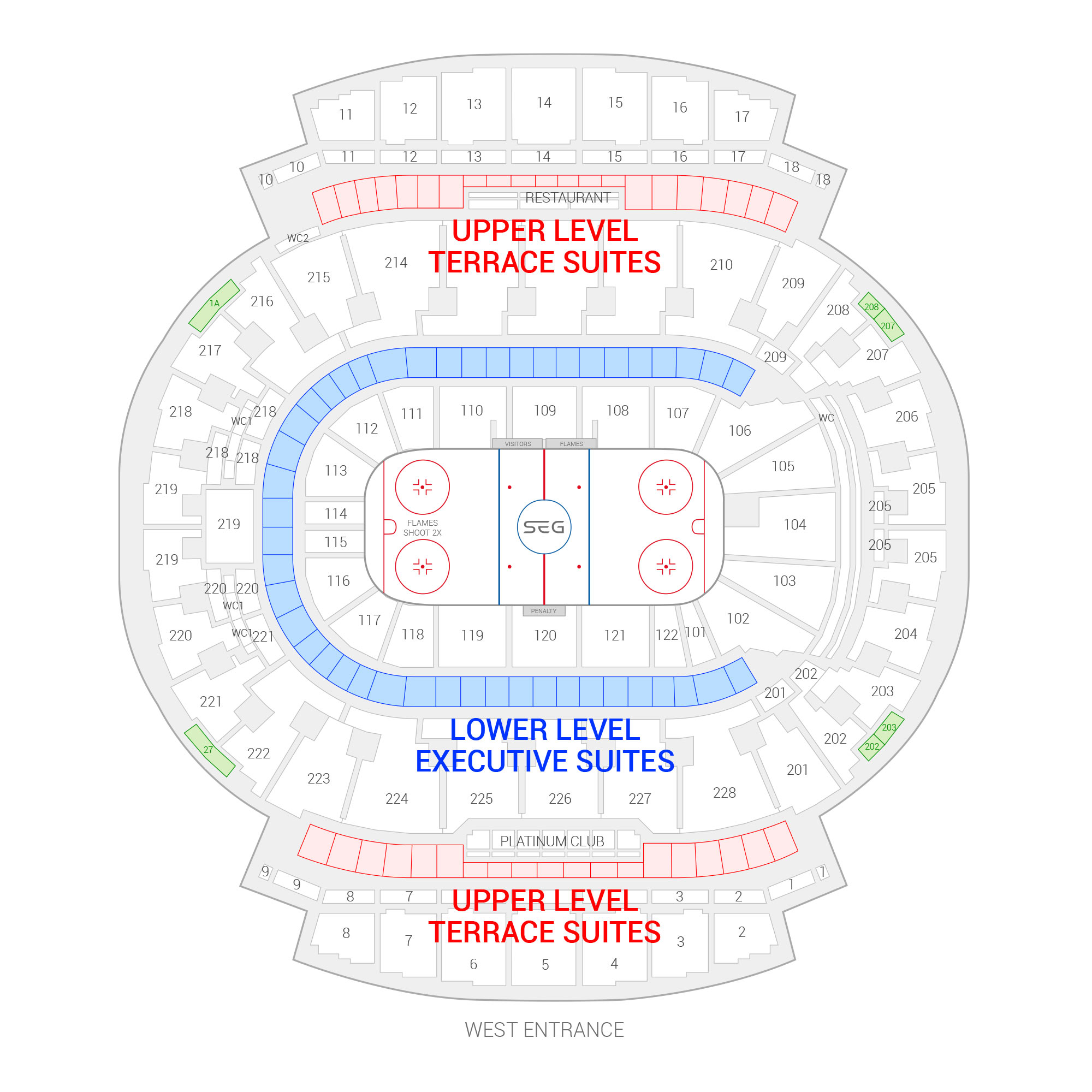 Scotiabank Saddledome /  Suite Map and Seating Chart