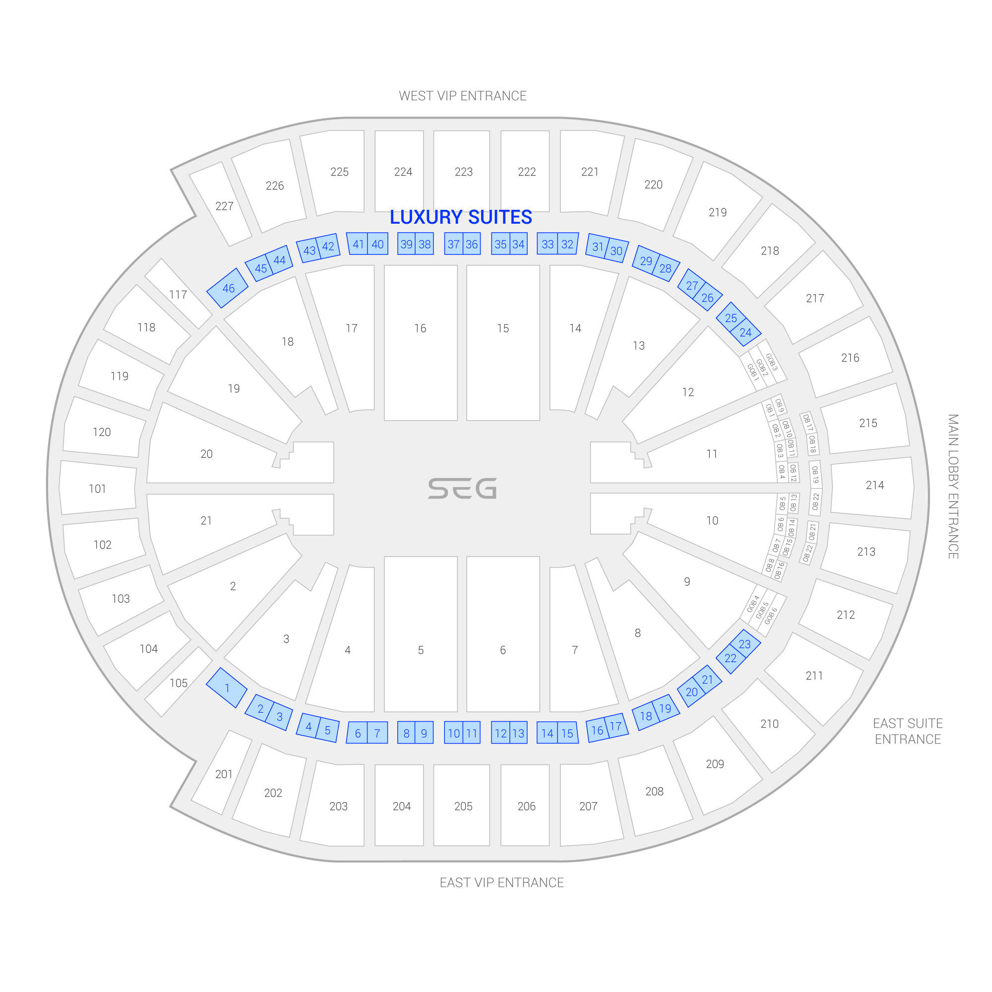 T-Mobile Arena /  Suite Map and Seating Chart