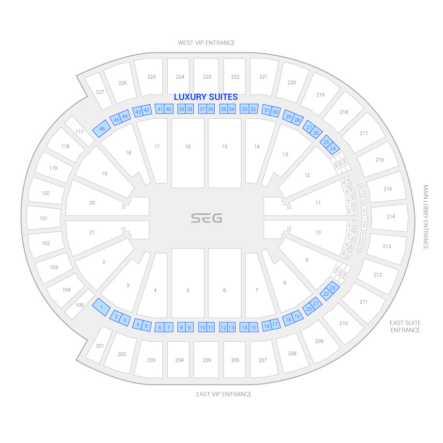 T Mobile Arena Suite Map And Seating Chart