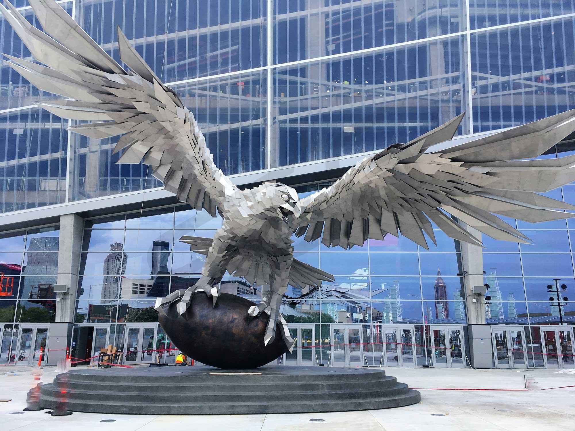 Atlanta falcons suite rentals mercedes benz stadium for Mercedes benz stadium falcon statue