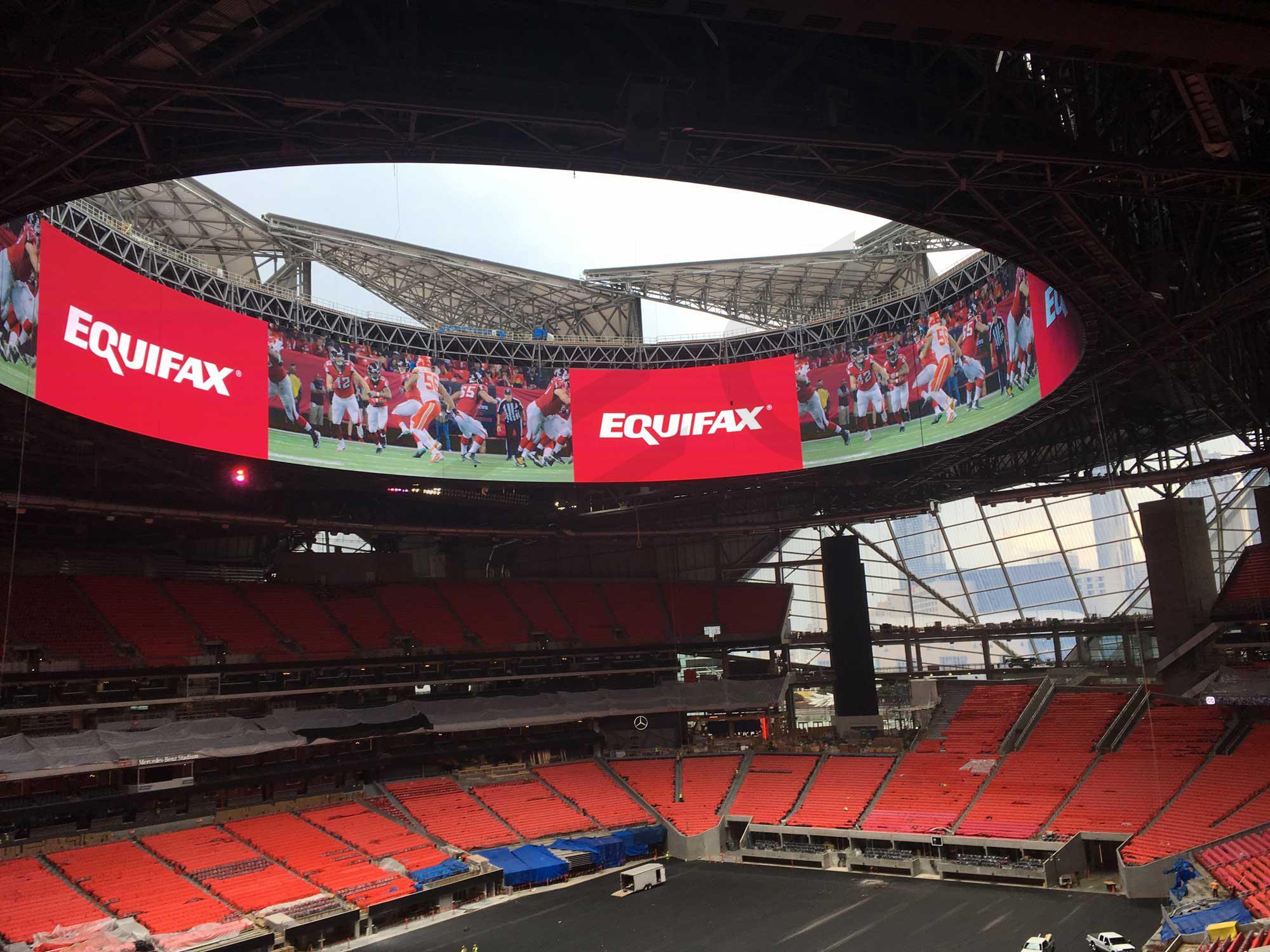 Open Roof and Scoreboard