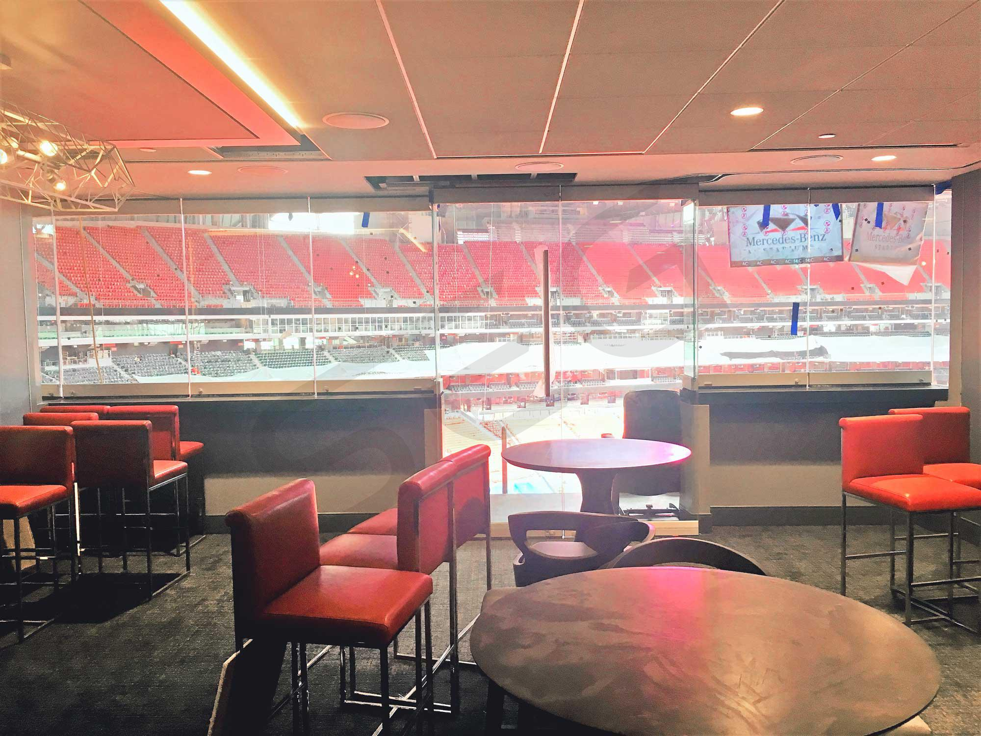 Atlanta falcons suite rentals mercedes benz stadium for Mercedes benz superdome suites