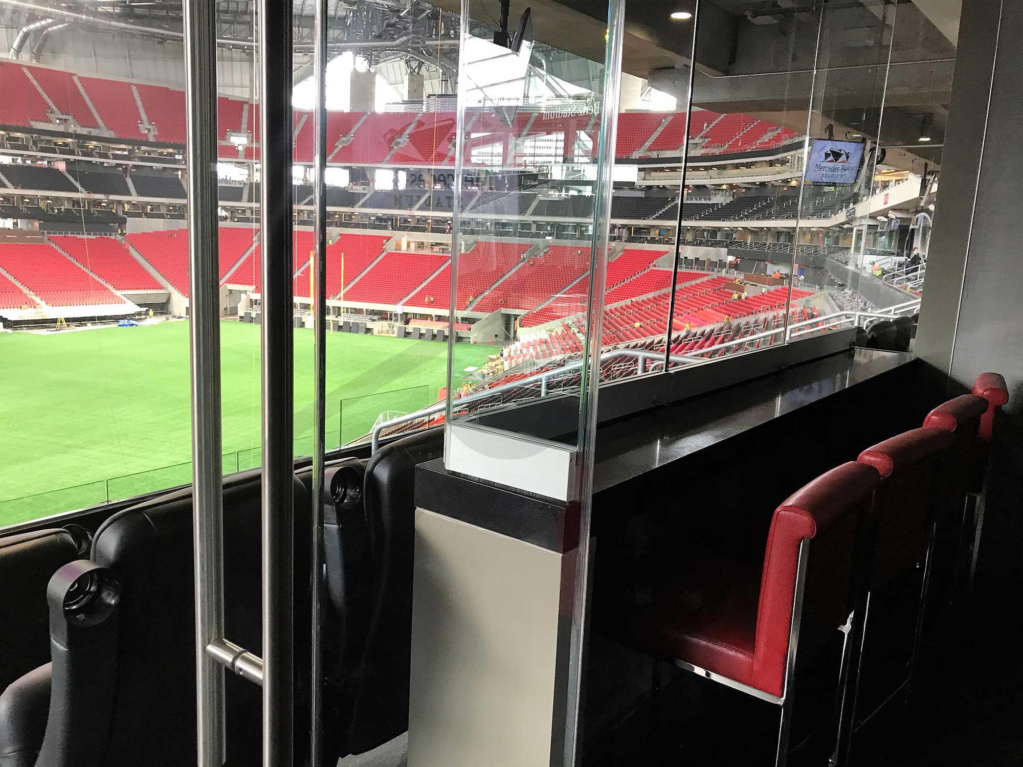 100 Level Suite seating