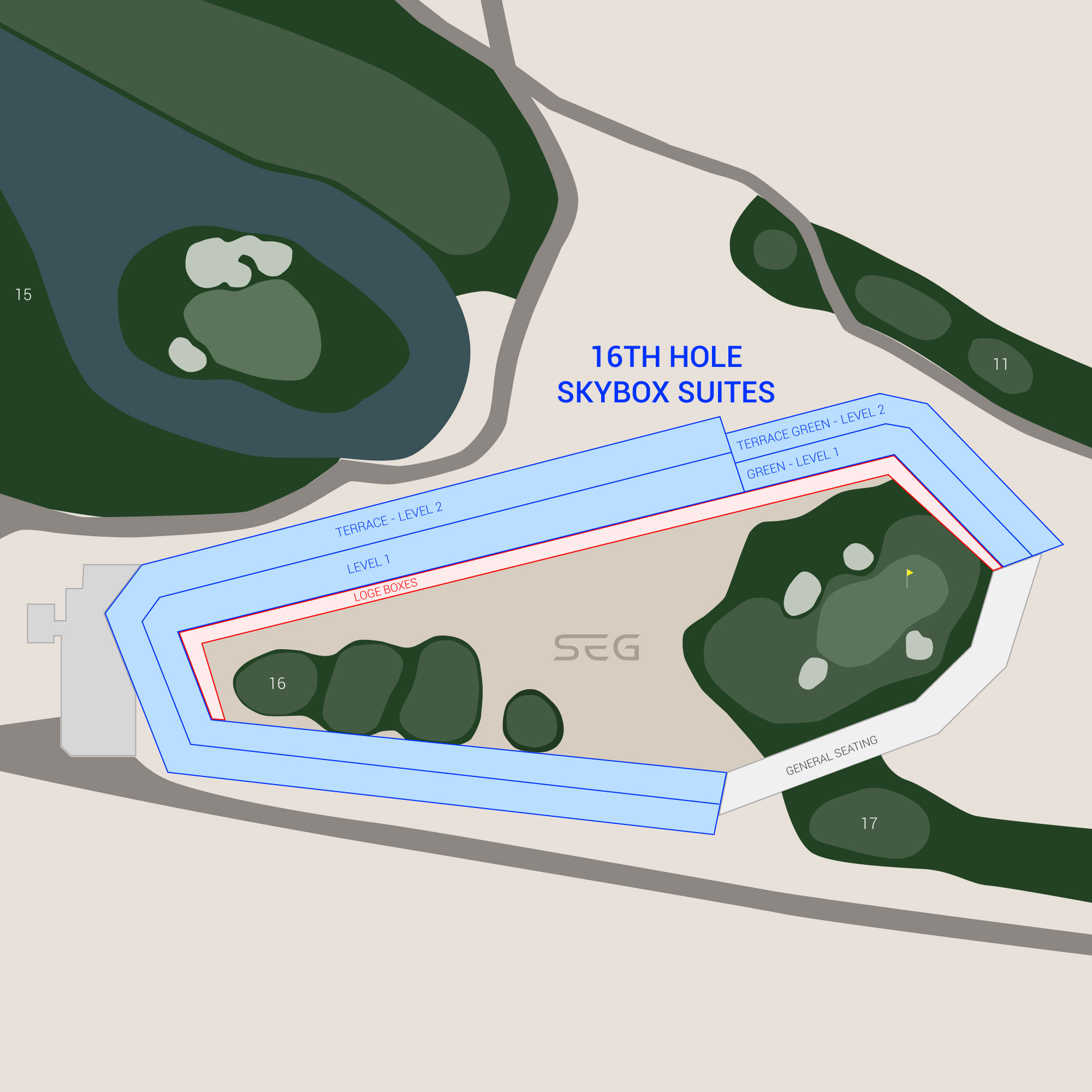 TPC Scottsdale / Waste Management Phoenix Open Suite Map and Seating Chart