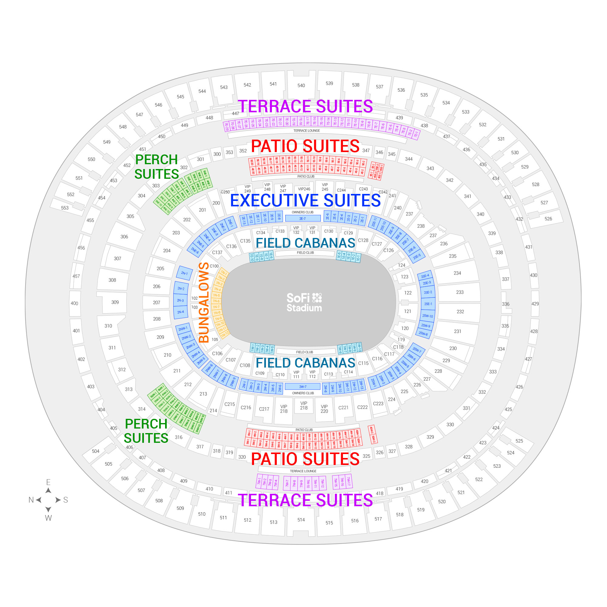 SoFi Stadium /  Suite Map and Seating Chart