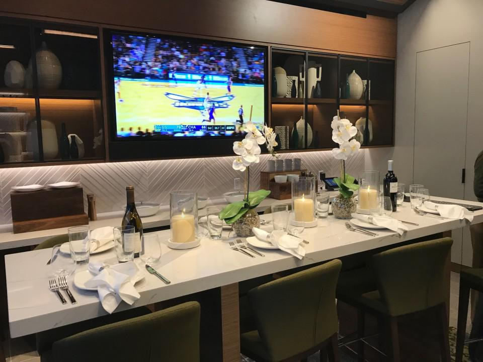 Chase Center Club Suite Dining Area