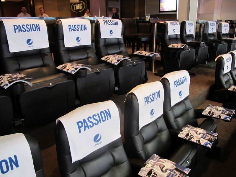Private stadium seats included with a luxury suite