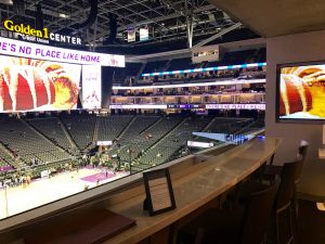 A vacant suite at the Golden 1 Center