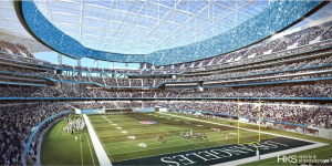 Transparent, retractable canopy will cover the stadium